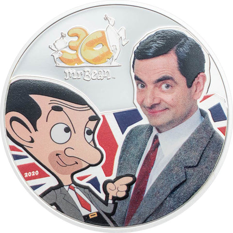 2020 Cook Islands 1 Ounce Mr. Bean 30th Anniversary Celebration Silver Proof Coin