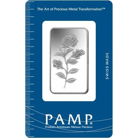 PAMP 1/2 Ounce Rosa .999 Rectangular Silver Bar
