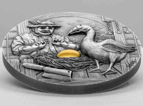 The Goose that Laid the Golden Eggs Silver Coin