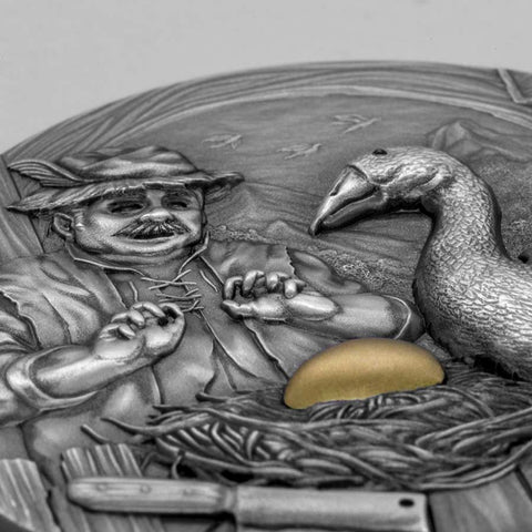2020 The Goose that Laid the Golden Eggs Antique Finish Silver Coin