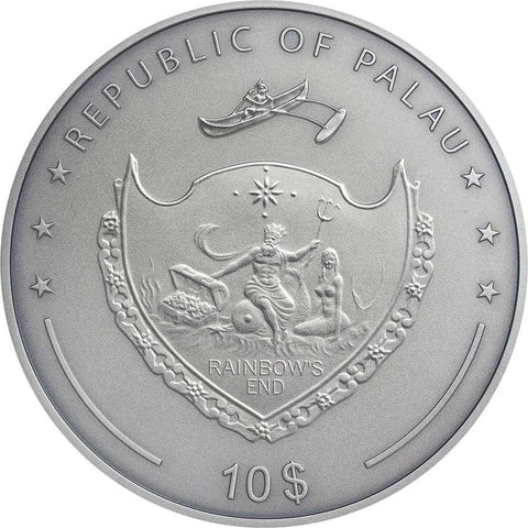 2020 Palau 2 Ounce The Goose that Laid the Golden Eggs Silver Coin