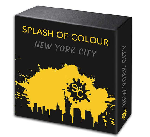 City Edition New York Splash of Color Silver Coin