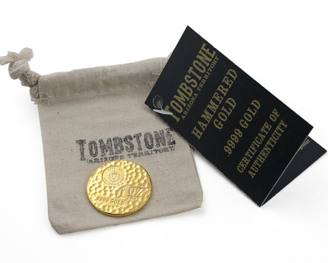 "Scottsdale Mint 1 Ounce ""Tombstone Hammered"" Gold Round"