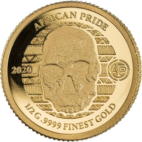 2020 African Pride 14 Nation 7 X 1/2 Gram Gold Coin 7