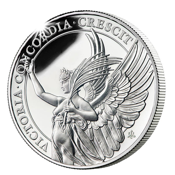 2021 ST. HELENA 1 OUNCE QUEENS VIRTUES VICTORY SILVER PROOF COIN