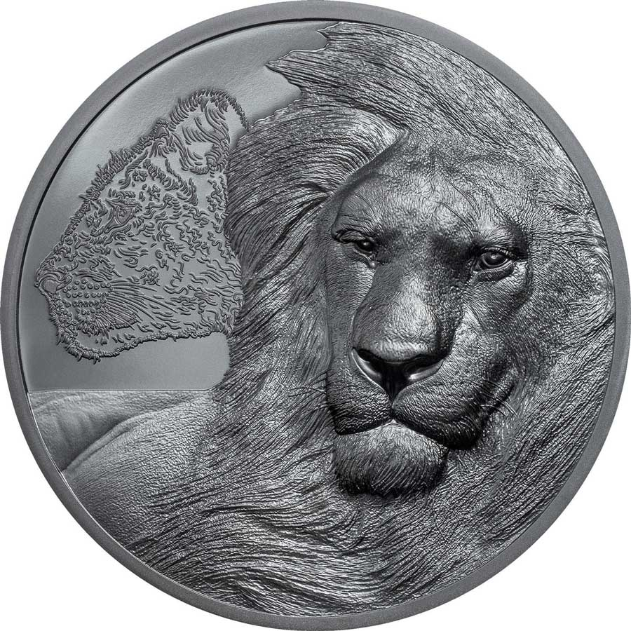 2021 Tanzania 2 Ounce Lions - Growing Up Ultra High Relief Silver Proof Coin