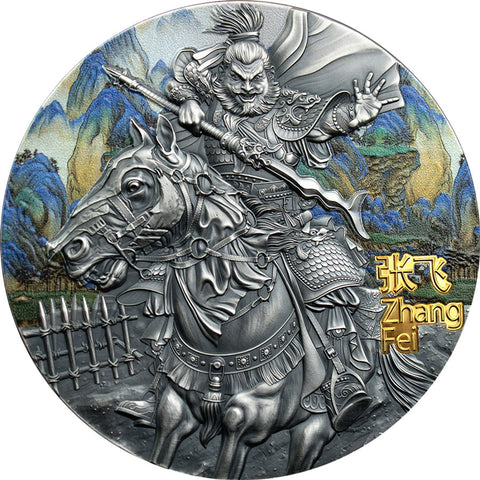 2020 Niue 3 Ounce Zhange Fei Warriors of China Gilded High Relief Silver Coin
