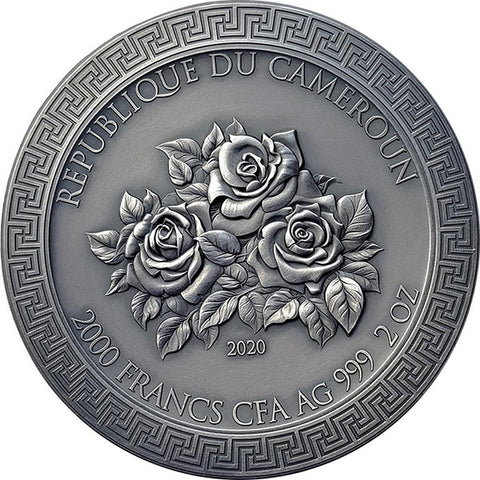 2020 Cameroon 2 Ounce Three Graces Celestial Beauty High Relief Silver Coin