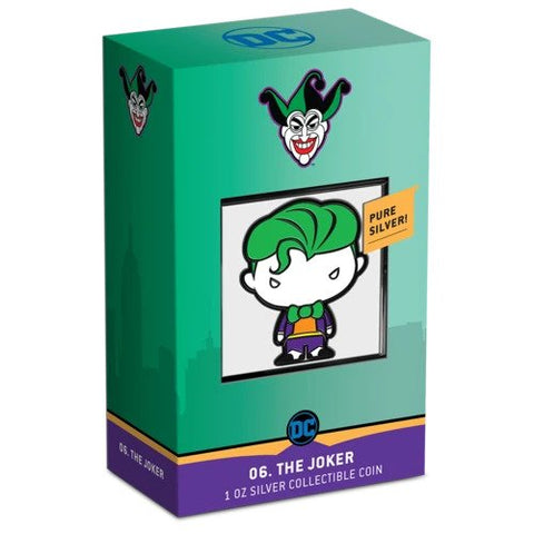 2020 Chibi Joker DC Comics Series Color Silver Proof Coin