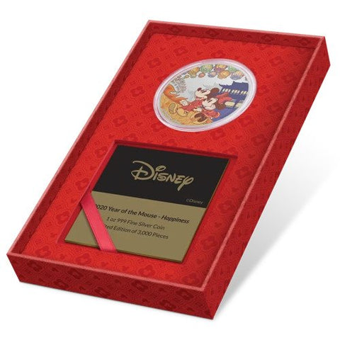 2020 Disney Year of the Mouse - Happiness Silver Proof Coin