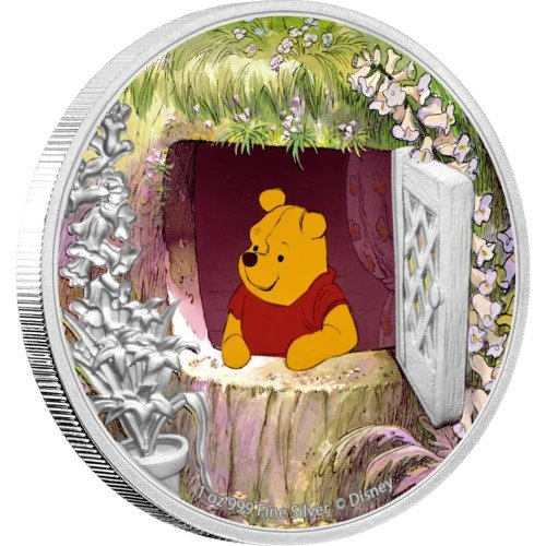 2020 Niue 1 Ounce Disney - Winnie the Pooh Color Silver Proof Coin