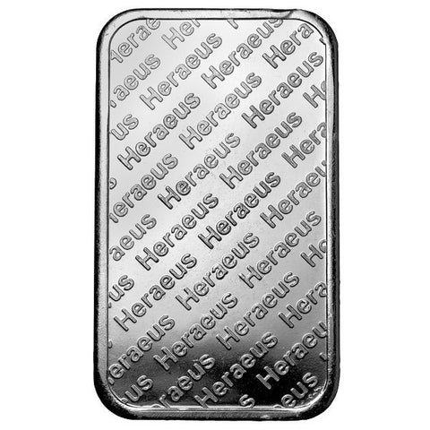 1 Ounce Heraeus .999 Rectangular Silver Bar
