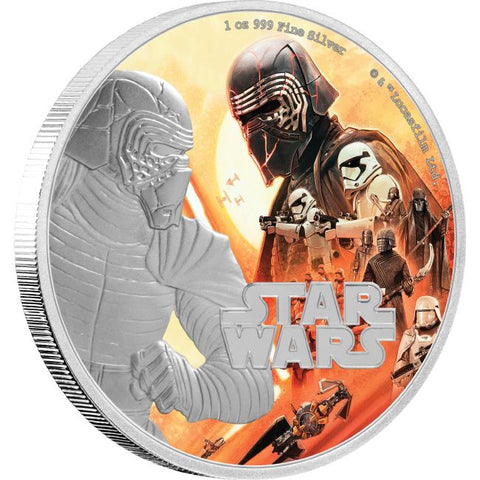 2019 Niue 1 Ounce The Rise of Skywalker - Kylo Ren Colored Silver Proof Coin