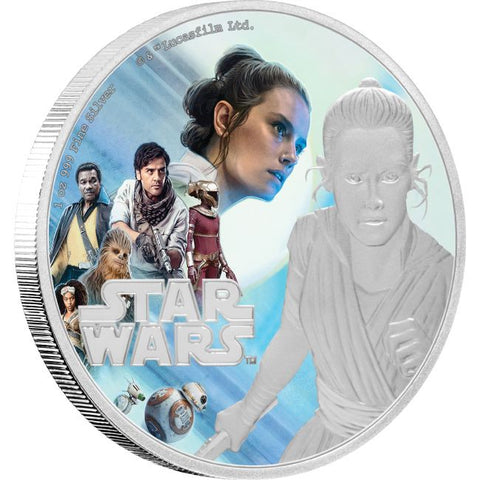 2019 Niue 1 Ounce The Rise of Skywalker - Rey Colored Silver Proof Coin