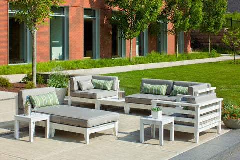 Seaside Casual Cambridge Deep Seating Sectional Center Armless with Sunbrella Cushion — Please call (970) 235-1495 for estimated delivery dates