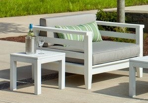 Seaside Casual Cambridge Deep Seating Club Chair with Cushions — Please call (970) 235-1495 for estimated delivery dates