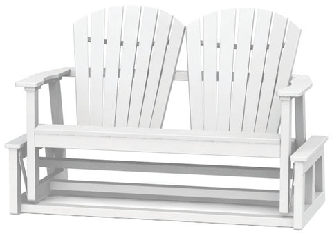 Seaside Casual Shellback Adirondack Double Glider — Extended lead times — Please call (970) 235-1495 for estimated delivery dates