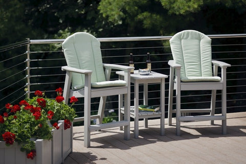 Seaside Casual Cushions for Shellback Adirondack Balcony, Bar, and Dining Chairs — Order Now for October Delivery