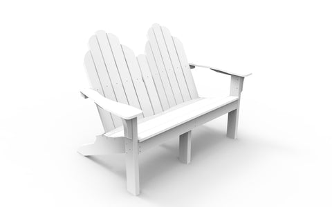 Seaside Casual Classic Adirondack Love Seat — Please call (970) 235-1495 for estimated delivery dates