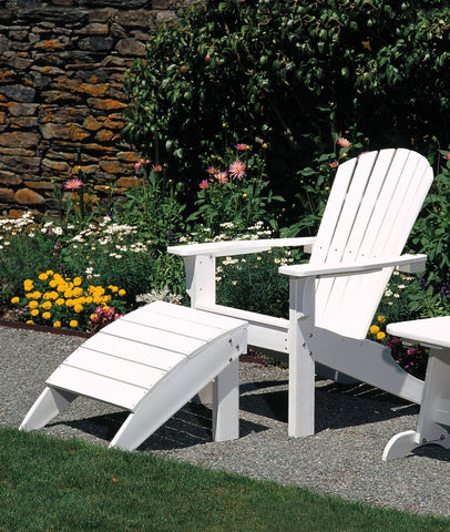 Seaside Casual 2-Piece Shellback Adirondack Chair and Footrest Set — Please call (970) 235-1495 for estimated delivery dates