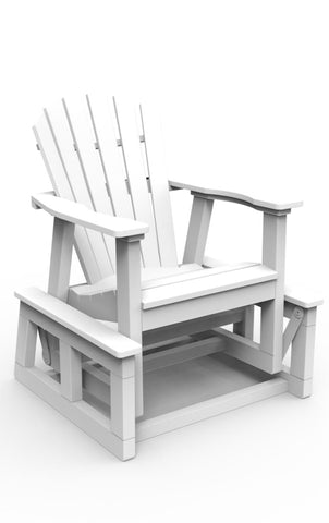 Seaside Casual Shellback Adirondack Single Glider — Order Now for November Delivery
