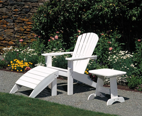 Seaside Casual Adirondack Foot Stool - [price] | The Adirondack Market