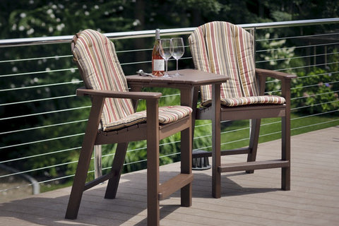 Seaside Casual Shellback Dining or Bar Chair Tête-à-Tête (032) - [price] | The Adirondack Market