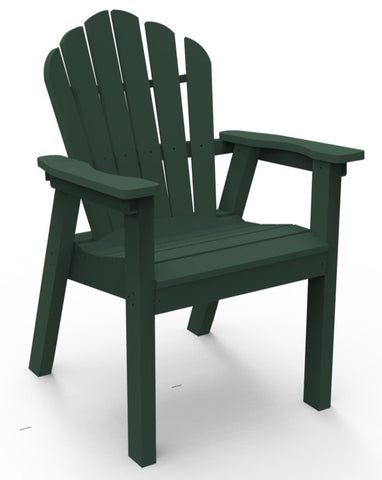 Seaside Casual Classic Adirondack Dining Chair - [price] | The Adirondack Market
