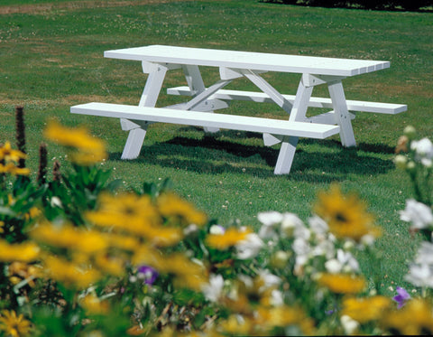 Seaside Casual Traditional Picnic Table (043) - [price] | The Adirondack Market