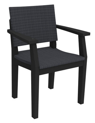 Seaside Casual MAD Fusion Dining Arm Chair with Woven Back and Seating Areas — Please call (970) 235-1495 for estimated delivery dates