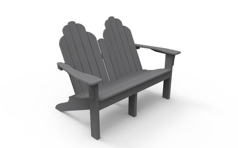Seaside Casual Classic Adirondack Love Seat - [price] | The Adirondack Market
