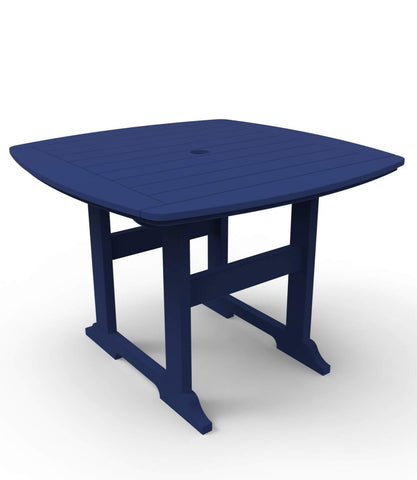 "Seaside Casual Portsmouth 42""x 42"" Dining Table — Extended lead times — Please call (970) 235-1495 for estimated delivery dates"