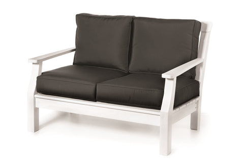 Seaside Casual Nantucket Deep Seating Love Seat with Sunbrella Cushions - [price] | The Adirondack Market