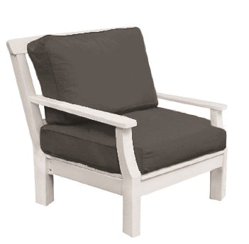 Seaside Casual Nantucket Deep Seating Lounge Chair with Sunbrella Cushions - [price] | The Adirondack Market