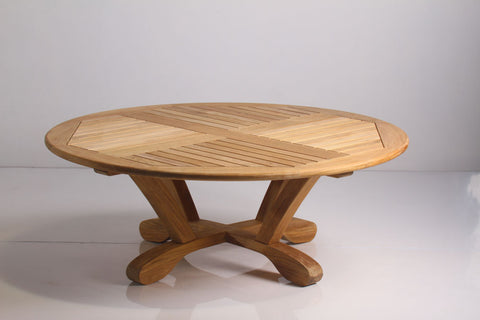 "Douglas Nance Cayman 36"" Round Indonesian Teak Conversation Table - [price] 