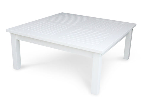 "Douglas Nance Classic 42"" Square White Acacia Conversation Table - [price] 