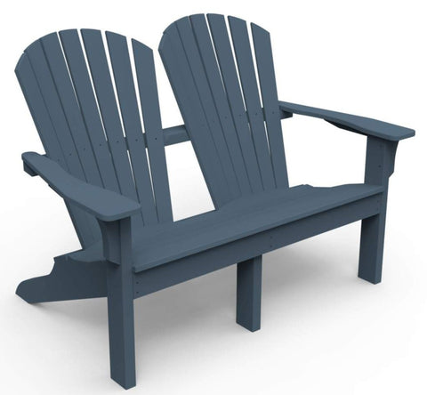 Seaside Casual Adirondack Shellback Love Seat - [price] | The Adirondack Market
