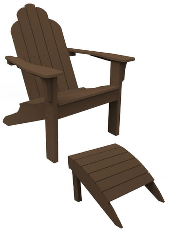 Seaside Casual 2-Piece Classic Adirondack Chair and Footrest Set — Order Now for late December Delivery