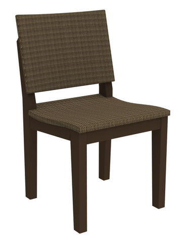 Seaside Casual MAD Fusion Dining Side Chair with Woven Back and Seating Areas — Order Now for October Delivery