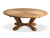 "Image of Douglas Nance Cayman 48"" Round Indonesian Teak Conversation Table - [price] 