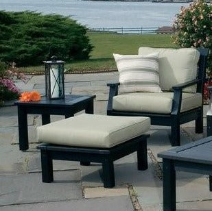 Seaside Casual Nantucket Deep Seating Lounge Chair with Sunbrella Cushions — Please call (970) 235-1495 for estimated delivery dates