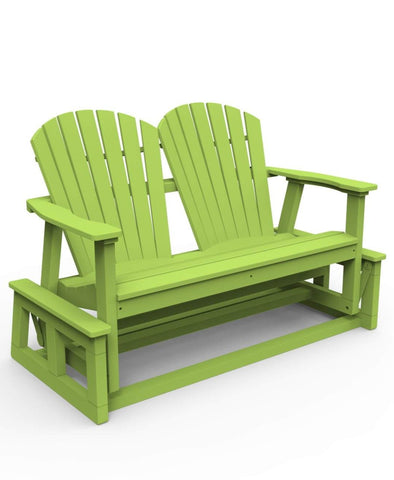 Seaside Casual Adirondack Shellback Glider - [price] | The Adirondack Market