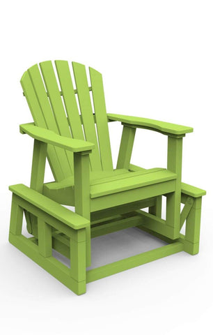 Seaside Casual Adirondack Shellback Single Glider - [price] | The Adirondack Market