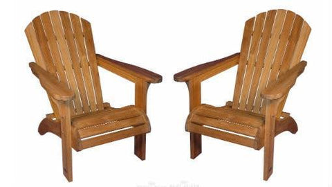Regal Teak Adirondack Chair – Set of Two - [price] | The Adirondack Market