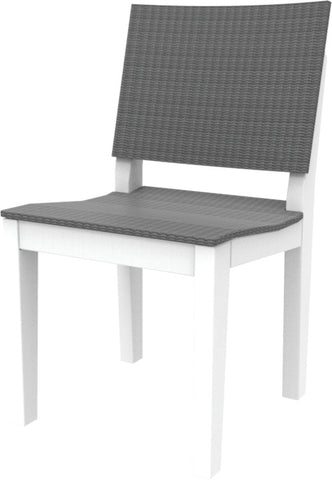 Seaside Casual MAD Fusion Dining Side Chair with Woven Back and Seating Areas - [price] | The Adirondack Market