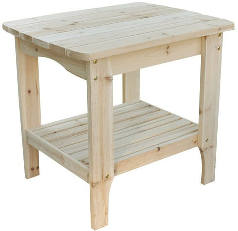 Shine Company Large Rectangular Side Table (4103) - [price] | The Adirondack Market