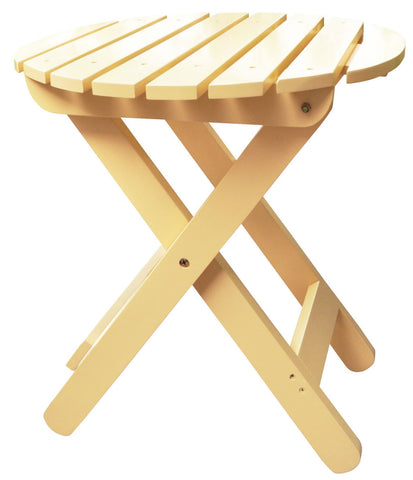 Shine Company Adirondack Round Folding Table (4108) — Order now for October Delivery!