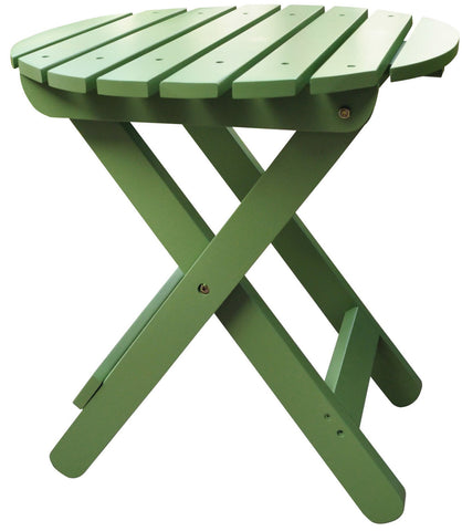 Shine Company Adirondack Round Folding Table (4108) - [price] | The Adirondack Market