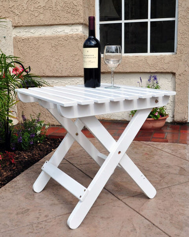 Shine Company Adirondack Square Folding Table (4109)