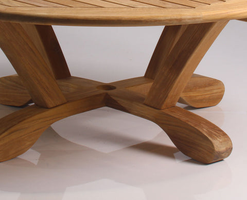 "Douglas Nance Cayman 48"" Round Indonesian Teak Conversation Table - [price] 
